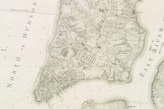 Map Of New York 1776.Before The Grid