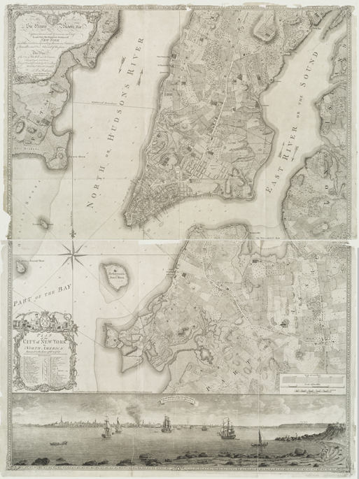 Map Of New York 1776.18th Century City